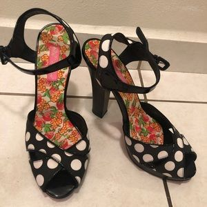 Betsey Johnson Polka Dot Heels